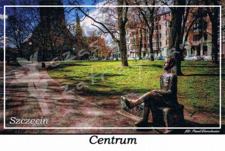 Szczecin. Centrum, plac im. gen Władysława Andersa. Pomnik Jana Czekanowskiego