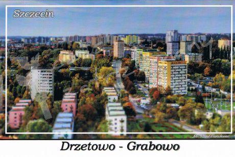 Szczecin. Drzetowo - Grabowo, widok na osiedle mieszkaniowe przy ulicy Rugiańskiej.