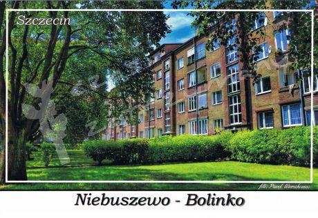 Szczecin. Niebuszewo Bolinko, modernistyczna zabudowa mieszkaniowa przy ulicy Marii Rodziewiczówny z lat 20. XX wieku.