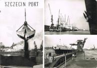 Szczecin - Port: 1 - Załadunek węgla, 2 - Nabrzeże Czechosłowackie, 3 - m/s Ziemia Szczecińska przy węglotaśmowcu