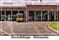 """Szczecin. Zawadzkiego - Klonowica, zajezdnia tramwajowa """"Pogodno"""""""