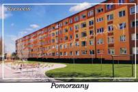 Szczecin. Pomorzany. Budynki mieszkalne przy ul. Włościańskiej.