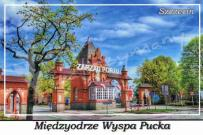 Szczecin. Międzyodrze Wyspa Pucka, Zarząd Morskich Portów Szczecin i Świnoujście S.A, brama wjazdowa.